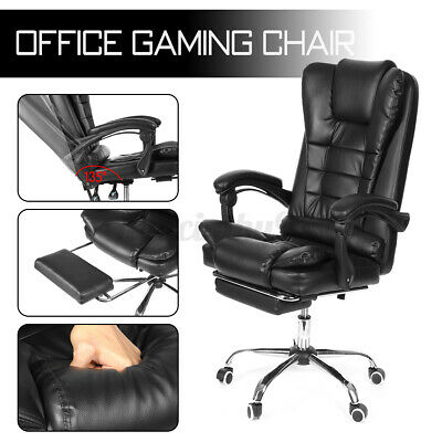 AU102.99 • Buy Office Chair Executive Computer Seat Racing Gaming Chair Leather Swivel Recliner
