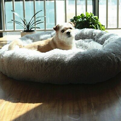 £39.99 • Buy Extra Large Dog Bed Calming Self Warm Washable Fluffy Shag Anti-Anxiety Beds