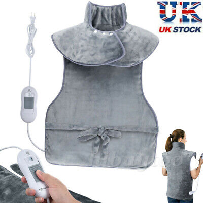 £29.52 • Buy Electric Heating Pad Soft Mat Blanket Wrap For Back Neck And Shoulder Pain Relif