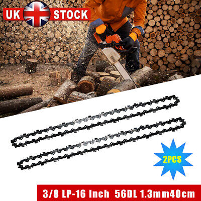 £9.89 • Buy 2Pcs 16inch 56 Drive Links Chainsaw Saw Chain Parts Tool Chainsaw Blade New