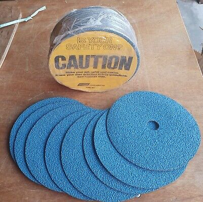 AU25 • Buy Norton 7  Sanding Grinding Discs 33 Pieces Marked F826 Z24 Made USA (170)