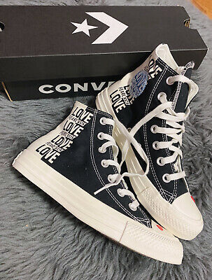 £57.68 • Buy Converse Love Fearlessly Yourself First US 6 Black White Red ❤ Heart NEW