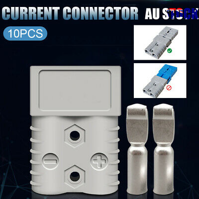 AU15.39 • Buy 10 Packs Anderson Style Plug Connectors 50 AMP 12-24V 6AWG DC Power Tool AU/gray