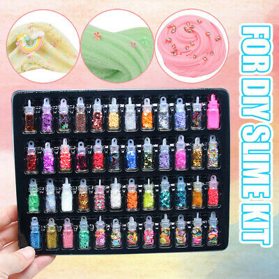 AU15.81 • Buy 48Pcs Sequins/Glitter Filler Soft Slime Toys For Children Mud DIY Kit Px
