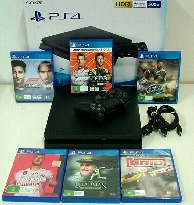 AU131.50 • Buy Sony PlayStation 4 PS4 Slim 500GB Black Console CUH-2202A + Controller + 6 Games