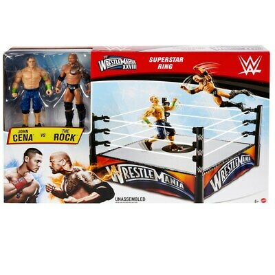 £49.99 • Buy WWE Wrestlemania Superstar Ring With John Cena And The Rock Figures