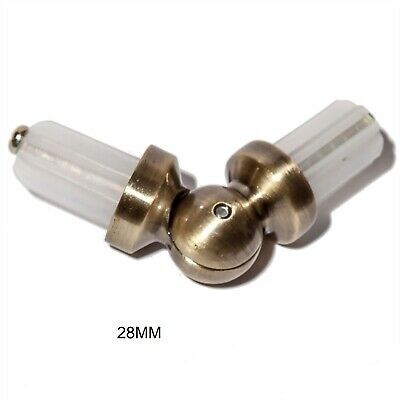 METAL BAY WINDOW CURTAIN POLE / ROD ELBOW CORNER JOINT CONNECTOR 28mm • 4.99£
