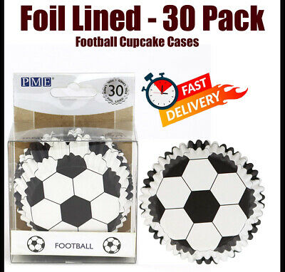 £3.66 • Buy PME Football Cupcake Cases Foil Lined 30 Pack