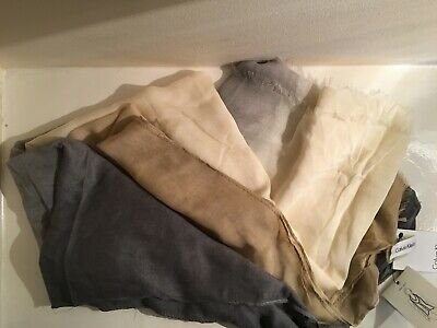 CALVIN KLEIN Scarf  Cream, Grey, Nude  NEW NWT • 20£