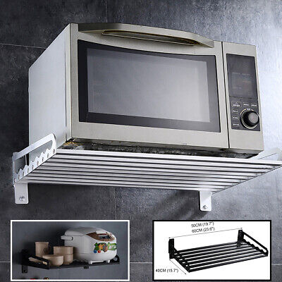 £46.97 • Buy Kitchen Aluminum Wall Hanging Microwave Oven Stand Storage Rack Shelf Bracket