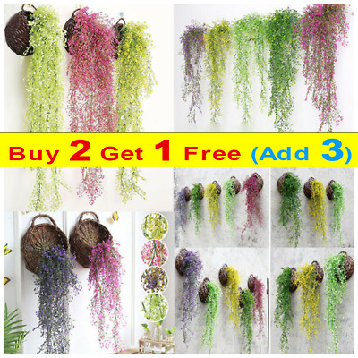 £4.99 • Buy Artificial Fake Hanging Flowers Vine Ivy Plant Garland For Wedding Home Decor