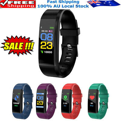 AU12.96 • Buy Smart Watch Band Sport Activity Fitness Tracker For Kids Fit Bit Android IOS W&