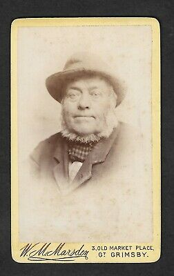CDV - A Rather Weathered Looking Old Boy By Marsden, GRIMSBY  - Carte De Visite • 3.20£