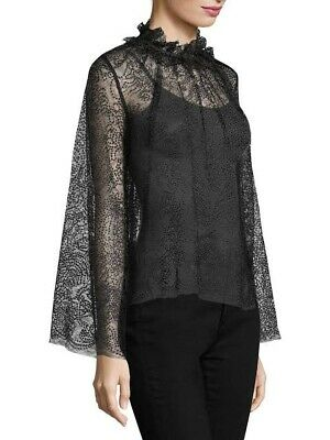 AU50 • Buy Alice Mccall Size 10 Del Mar Blouse Sheer Black Good Condition