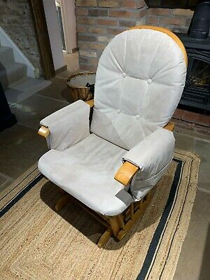 Glider Rocking Nursing Maternity Breastfeeding Recliner Chair • 35£