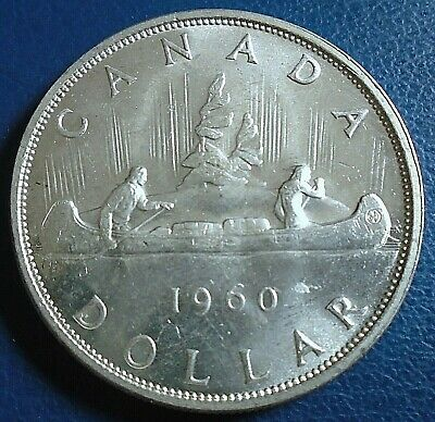 CANADA: 1960 $1, .800 Silver - Top Grade, Some Small Obverse Contact Marks • 12.50£