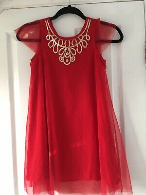 £9 • Buy Girls Red Sequin Beaded 1920s Style Charleston Flapper Party Dress Stunning 9 10