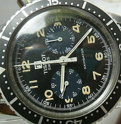$ CDN3023 • Buy  Diver's Vintage 1970's S/S Men's Tissot Navigator Swiss Chronograph Watch Runs