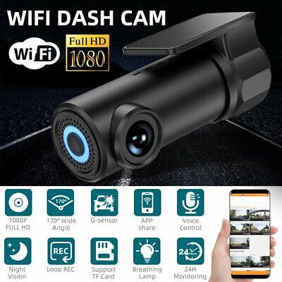 AU41.55 • Buy 1080P WiFi Car DVR 170° FHD Lens Dash Cam Video Recorder Camera Cam Night Visio