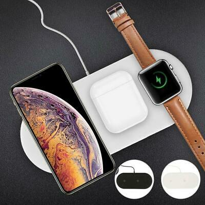AU19.23 • Buy For AirPods IPhone 3in1 Qi Wireless Charger Dock Stand Charging Fast T6R0 A3F3