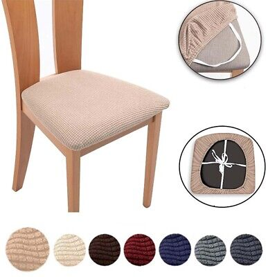 AU12.89 • Buy Jacquard Dining Chair Seat Covers Removable Seat Cushion Slipcovers Decorations