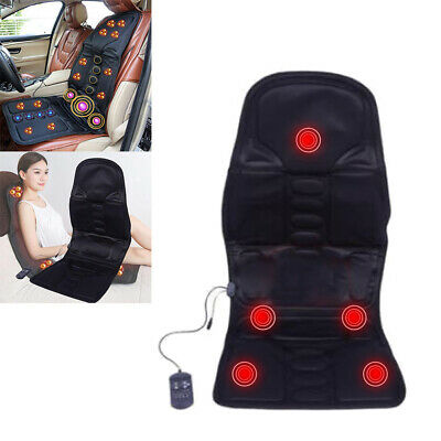 £28.97 • Buy Lumbar Neck Care Heated Back Massage Chair Cushion Massager Car Seat Pad SS