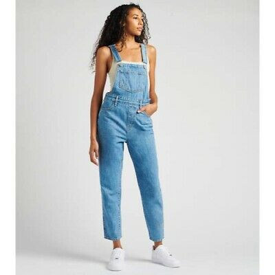AU82.88 • Buy Levi's Womens Tapered Denim Overalls Light Wash Size 30 NEW