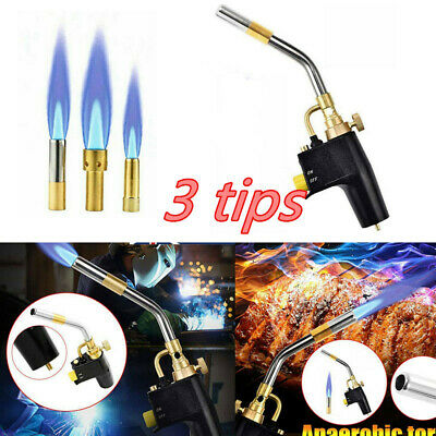 £28.99 • Buy Gas Torch Mapp Gas Blow Torch Map Propane Gas Solderding Brazing Plumbers Tools