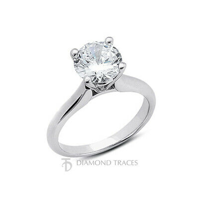 AU5964.85 • Buy 1 1/2ct G SI1 Round Natural Diamond 950 Plat. Solitaire Engagement Ring