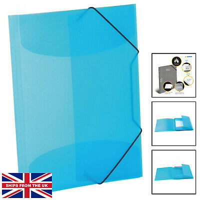 £6.99 • Buy HERMA Elastic Folder Translucent In Light Blue, A4, Sturdy Plastic, With 3 In...