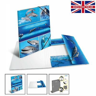 £4.49 • Buy HERMA Elastic Folder Animals With Dolphins Motif, A4, Sturdy Cardboard, With ...
