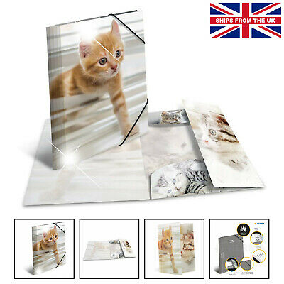 £8.25 • Buy HERMA Elastic Folder Animals With Cats Motif, A4, Glossy Plastic, With Inner ...