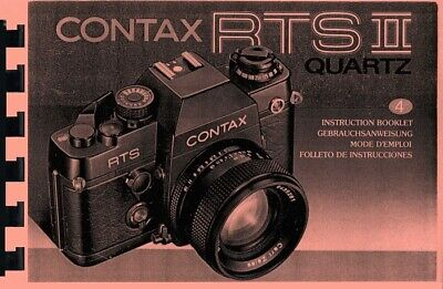 $ CDN18.09 • Buy Contax RTS II Quartz Instruction Manual Reprint English French German Spanish