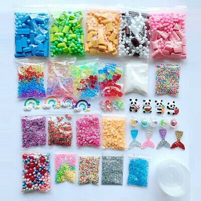 AU24.95 • Buy Slime Supplies Kit Foam Beads Charms Styrofoam Balls Tool For DIY Slime Making Q