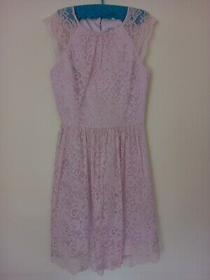 AU20.50 • Buy Womens Size 8 Forever New Pink Lace Dress