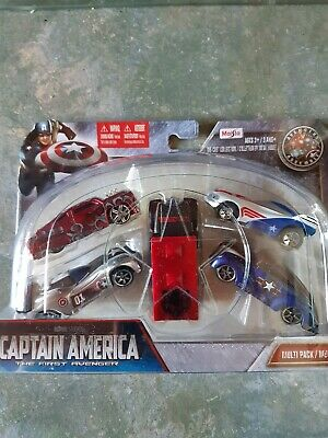 $ CDN39.21 • Buy Maisto 15179 - Marvel Captain America - 5 Piece Diecast Vehicle Multi Pack Set