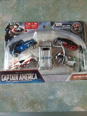 $ CDN30.68 • Buy Maisto 15179 - Marvel Captain America - 5 Piece Diecast Vehicle Multi Pack Set