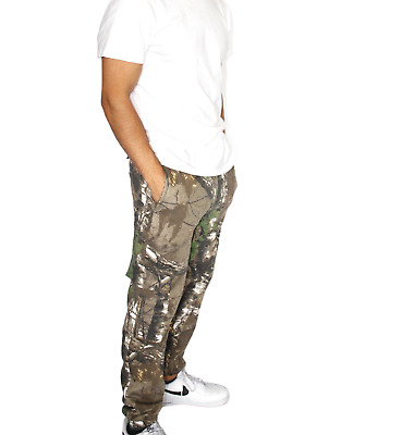 £13.75 • Buy Mens Jungle Print Camouflage Cargo Combat Fleece Jogging Bottoms S-5XL