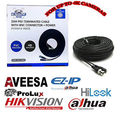 £4.98 • Buy 15 M BNC DC Power Lead CCTV Security Camera DVR Video Record Extension Cable