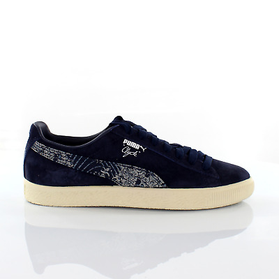 Puma Clyde Marine FM Navy Suede Leather Mens Trainers 364787 01 • 29.99£