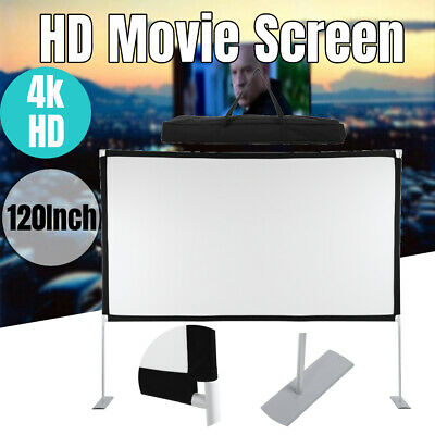 AU76.89 • Buy Projector Screen With Stand 120 Inch Indoor Outdoor Movie Projection Screen 16:9