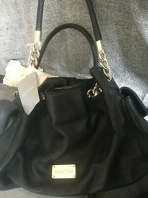 AU46 • Buy Genuine Oroton Leather Black Venice Tote Handbag. Inc Original Price Tags.