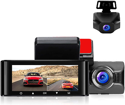 AU200.90 • Buy Dash Cam For Cars 4K Front Dashboard Camera And 1080P Rear Dashcam W4K Wifi Ips