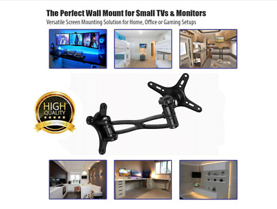 Monitor Wall Mount Monitor Arm Swivel 360° TV Wall Mount Maximize Desktop Space • 14.95£