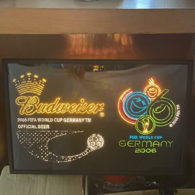 $ CDN623 • Buy Budweiser 2006 Germany World Cup Fiber Optic Neon Sign Vintage Retro