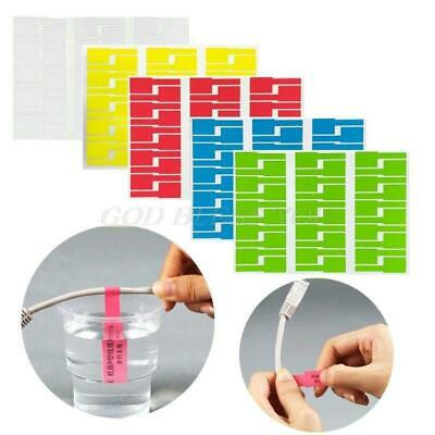 30pc Cable Labels Sticker Waterproof Identification Tags Work With Laser Printer • 7.50£