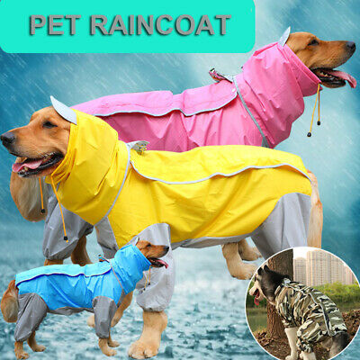 UK Waterproof Pet Raincoat Dog Puppy Coat Jacket Vest Rain Coat Poncho Clothes • 9.99£