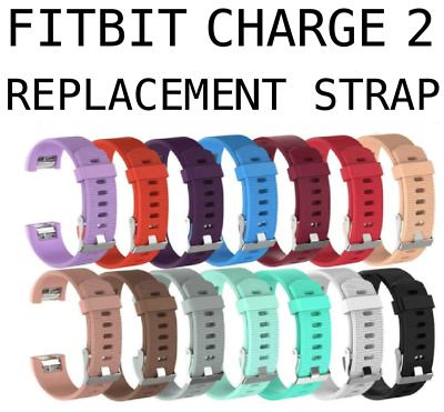 AU6.76 • Buy For Fitbit Charge 2 Strap Wristband Metal Buckle Small Large Sports Band