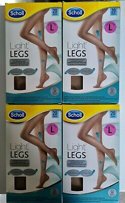 £21.95 • Buy 4 X Scholl Womens Large Light Legs Nude Compression Tights 20 Denier Large