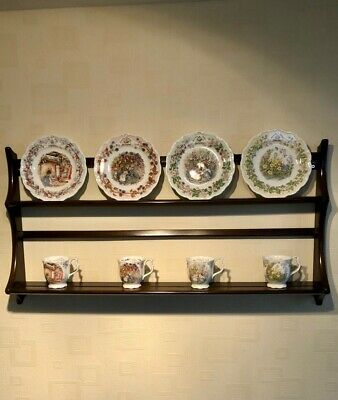 £10 • Buy Ercol Plate Rack, Solid Wood, Good Condition, H50cm, W96.5cm, D13.5cm Max